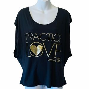 Love this life gold foiled oversized yoga tee